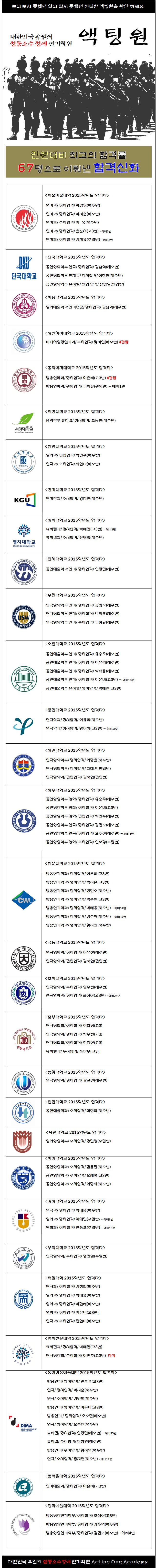 2015학년도 액팅원 최종합격자들.png